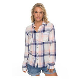 Roxy Women's Setai Miami Long Sleeve Plaid Shirt