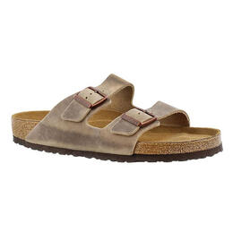 Birkenstock Women's Arizona Soft Tobacco Oiled Leather Sandals