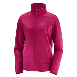 Salomon Women's Discovery Full Zip Top, Cerise