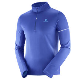Salomon Men's Agile Mid Half Zip Long Sleeve Shirt