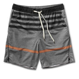 Vuori Men's Trail Shorts Grey Acorn Stripe
