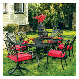 Hanamint Berkshire Round Table 7-Piece Dining Set