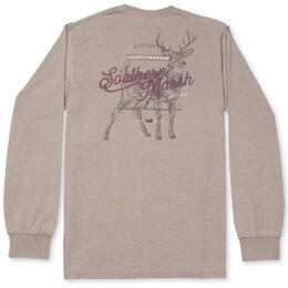 Southern Marsh Men's SEAWASH™ Deer Long Sleeve Tee Shirt