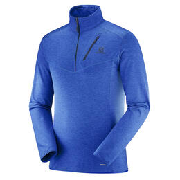 Salomon Men's Discovery Half Zip Top, Surf The Web