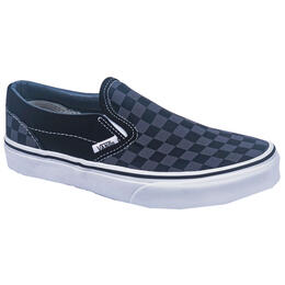 Vans Kids Classic Slip On Black/Pewter Casual Shoes
