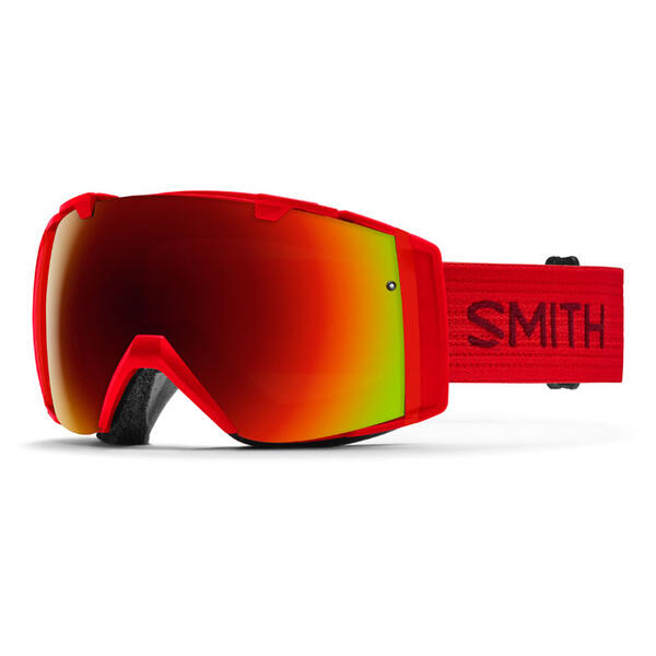 Smith I/O Snow Goggles With Red Sol-X Mirro