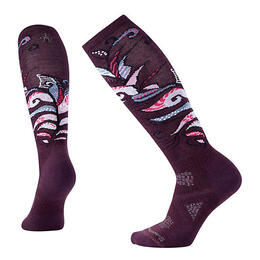 Smartwool Women's PhD Ski Light Pattern Socks Bordeaux