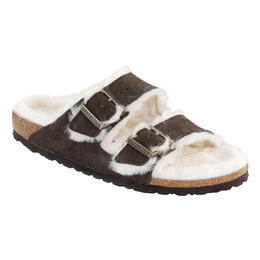 Birkenstock Women's Arizona Suede Shearling Lined Casual Sandals