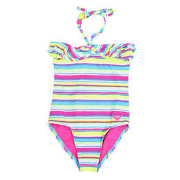 Roxy Girl's Island Tiles One Piece Swimsuit
