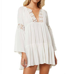 O'Neill Women's Salt Water Solids Bell Sleeve Coverup Dress