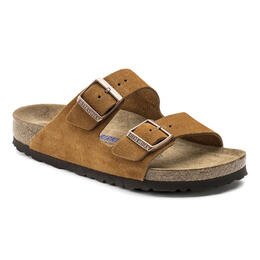 Birkenstock Women's Arizona Soft Mink Suede Sandals Narrow