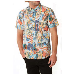 O'Neill Men's Feels Like Freedom Short Sleeve Button Up Shirt