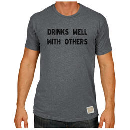 Original Retro Brand Men's Drinks Well With Others T Shirt