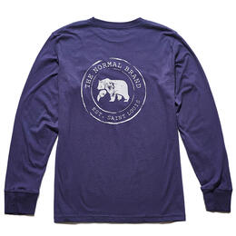 The Normal Brand Men's Vintage Circle Back Long Sleeve T Shirt
