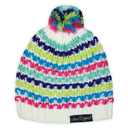 Snow Dragons Toddler Girl's Rainbow Knit Beanie