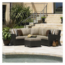 North Cape Cabo Jacobean 4-Piece Wicker Sectional with Table