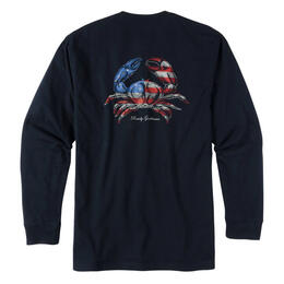 Rowdy Gentleman Men's Americrab Long Sleeve Pocket Tee Shirt