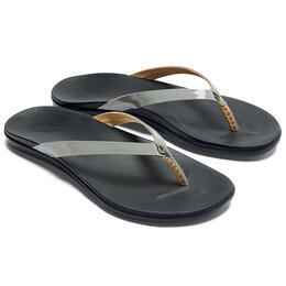 OluKai Women's Ho'opio Leather Flip Flops