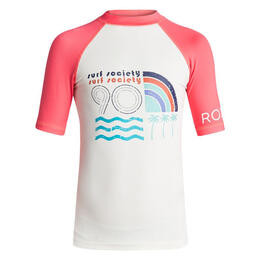 Roxy Girl's Sea Bound Short Sleeve Rashguard