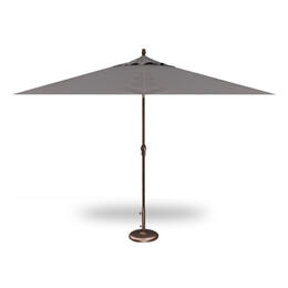 Treasure Garden 9' Push Button Tilt Umbrella - Bronze with Charcoal