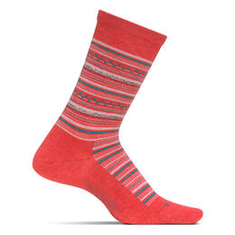 Feetures Women's Santa Fe Crew Ultra Light Socks Coral