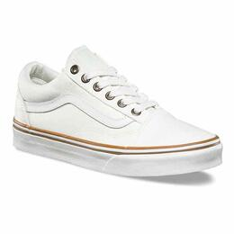 Vans Women's Sun Faded Old Skool White Shoes