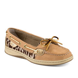 Sperry Women's Angelfish 2-Eye Shimmer Leopard Casual Shoes