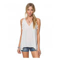O'Neill Women's Neesa V Neck Woven Tank Top
