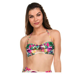 Isabella Rose Women's Hot Tropics Bandeau Bikini Top