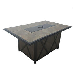 Casual Classics Siesta Cove Rectangle Fire Pit Dining Table