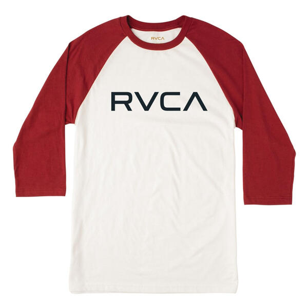 RVCA Men's Big RVCA 3/4 Sleeve Raglan T-shi