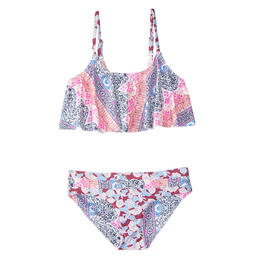 O'Neill Girl's Cruz Ruffle Top Swimsuit Set