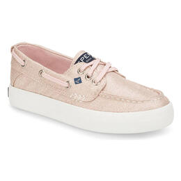 Sperry Girl's Crest Resort Boat Shoes Blush/Gold