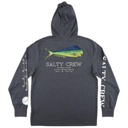 Salty Crew Men's Angry Bull Hood Long Sleeve Tech Tee Shirt