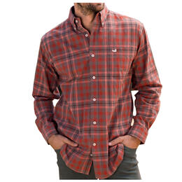 Southern Marsh Men's Boundary Washed Plaid Dress Shirt
