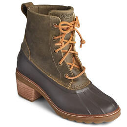 Sperry Women's Saltwater Heel Leather Duck Boots