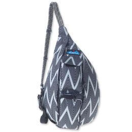 Kavu Women's Mini Rope Sling Black And White Zigzag Bag