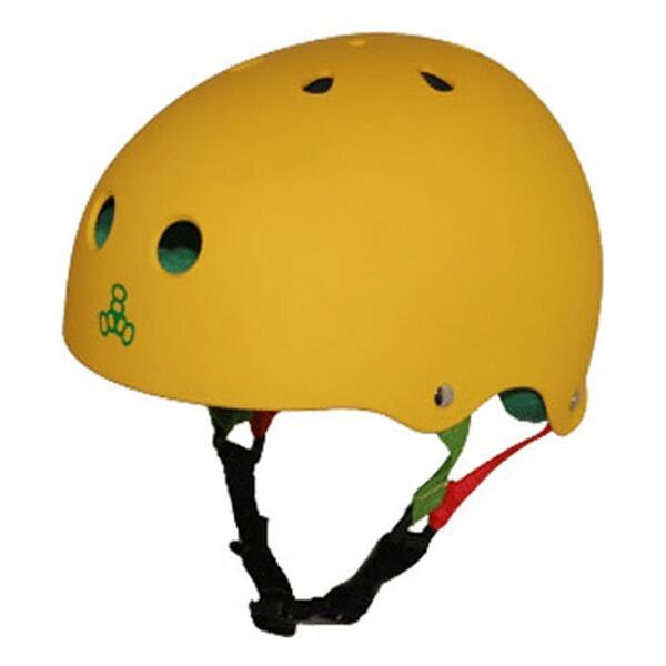 Triple Eight Rasta Rubber Skate Helmet