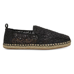 Toms Women's Deconstructed Alpargata Casual Shoes Black Lace