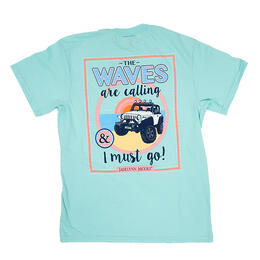 Jadelynn Brooke Women's The Waves Are Calling Short Sleeve Pocket Tee Shirt