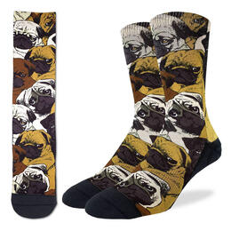 Good Luck Socks Men's Social Pugs Socks