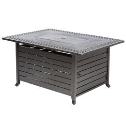 "Alfresco Home Pescara 50"" Rectangular Gas Fire Pit Chat Table"