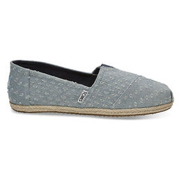 Toms Women's Alpargata Casual Shoes Seaglass Torn