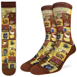 Good Luck Socks Men's Coffee Time Socks
