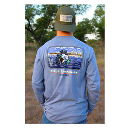 Burlebo Men's Field Companion T Shirt Heather Blue Jean