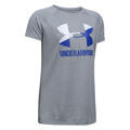 Under Armour Girl's Solid Big Logo T Shirt