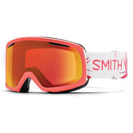Smith Women's Riot Snow Goggles W/ Chromapop Red Mirror Lens
