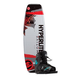 Hyperlite Boy's Motive Jr. Wakeboard W/ Remix Bindings '17