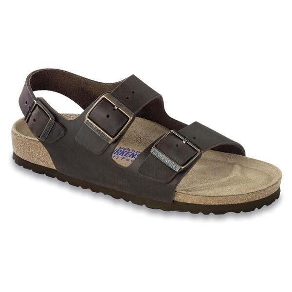 Birkenstock Men's Milano Soft Footbed Oiled Leather Casual Sandals