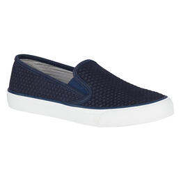 Sperry Women's Seaside Scale Emboss Navy Casual Shoes